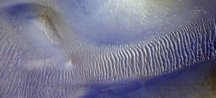 Mini-Chaos Terrain East of Hooke Crater
