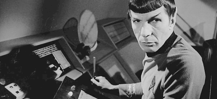 Photo of Leonard Nimoy as Spock from Star Trek, the Original Series.