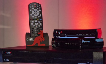 The DISH Network's Hopper with Sling is displayed before a news conference during press day at the Consumer Electronics Show, Monday, Jan. 7, 2013, in Las Vegas.