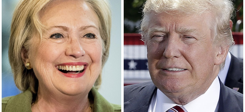Democratic presidential candidate Hillary Clinton and Republican presidential candidate Donald Trump.