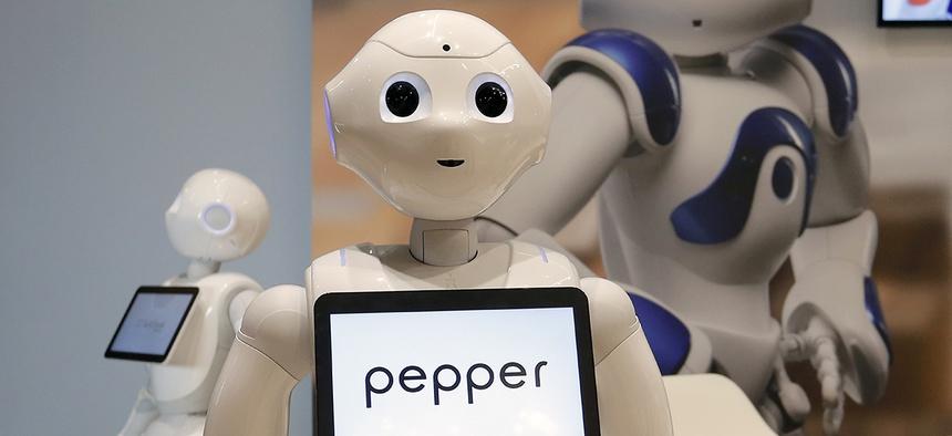 Pepper the robot of Softbank Robotics