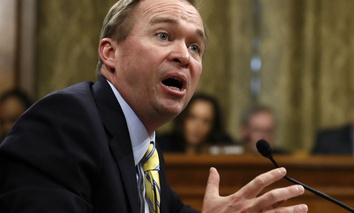 udget Director-designate Rep. Mick Mulvaney, R-S.C., testifies on Capitol Hill in Washington, Tuesday, Jan. 24, 2017