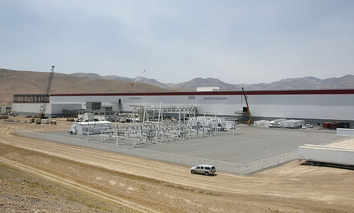An overall view of the new Tesla Gigafactoryn in Sparks, Nev.