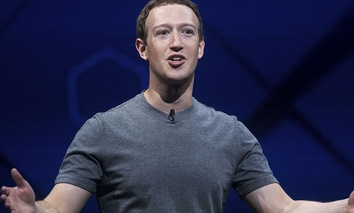 Facebook CEO Mark Zuckerberg speaks at his company's annual F8 developer conference, April 18, 2017.