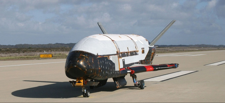 The X-37B Orbital Test Vehicle at Vandenberg Air Force Base, Calif.
