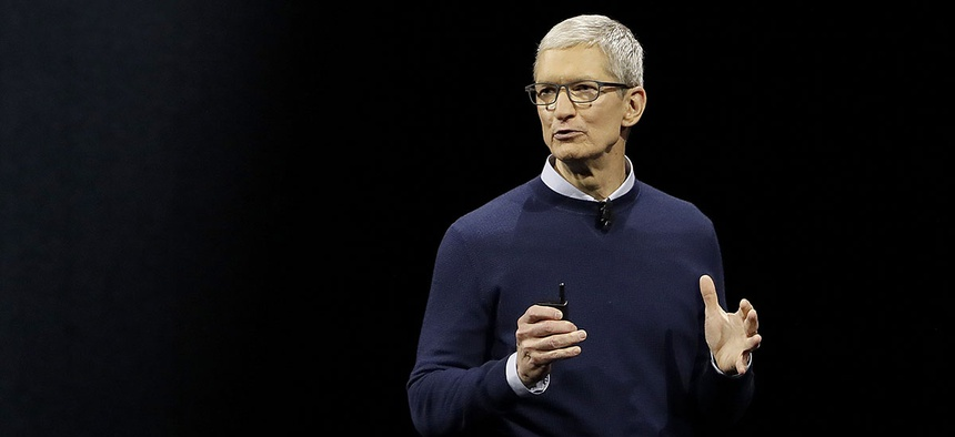 Apple CEO Tim Cook speaks during an announcement of new products at the Apple Worldwide Developers Conference in San Jose, Calif., Monday, June 5, 2017.
