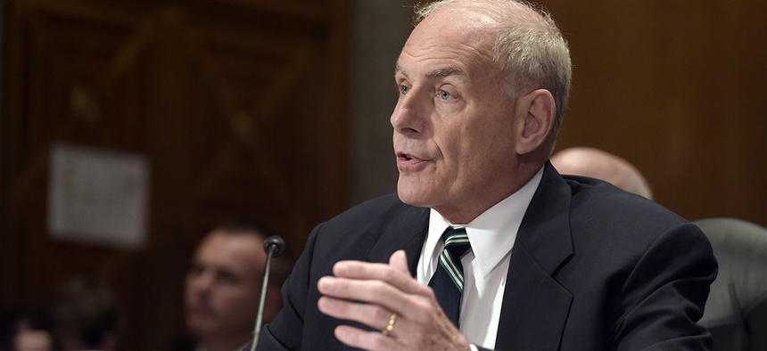 Homeland Security Secretary John Kelly testifies on Capitol Hill in Washington, Tuesday, June 6, 2017.