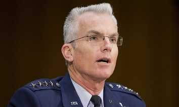 In a 2015 photo, Gen. Paul Selva, vice chair of the Joint Chiefs of Staff Vice Chairman Gen. Paul Selva testifies before the Senate Armed Services Committee in Washington, D.C.