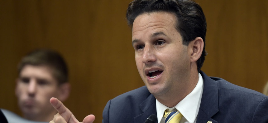 Sen. Brian Schatz at a Senate Appropriations subcommittee hearing on Capitol Hill in Washington in May.