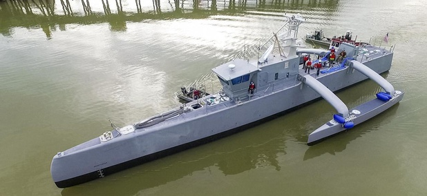 The ACTUV, or Sea Hunter, vessel, a project co-developed by DARPA and the US Navy.