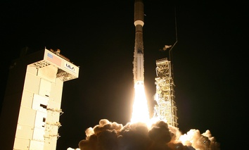 A United Launch Alliance Atlas 5 rocket lifts off from Vandenberg Air Force Base in California.