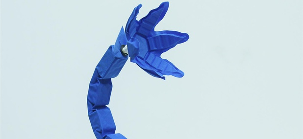"A ""soft robot"" snake arm designed by Harvard's Wyss Institute and MIT's CSAIL institute."