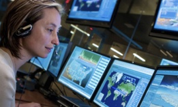 An employee at Lockheed Martin's NexGen Cyber Innovation and Technology Center.
