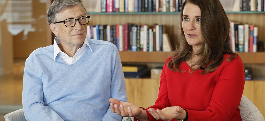 Microsoft co-founder Bill Gates and his wife Melinda