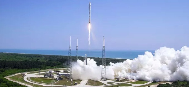 An Atlas V rocket launches with the X-37B spacecraft.
