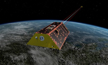 The twin spacecraft of the Gravity Recovery and Climate Experiment Follow-On (GRACE-FO) mission.