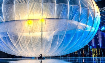 A Project Loon balloon.