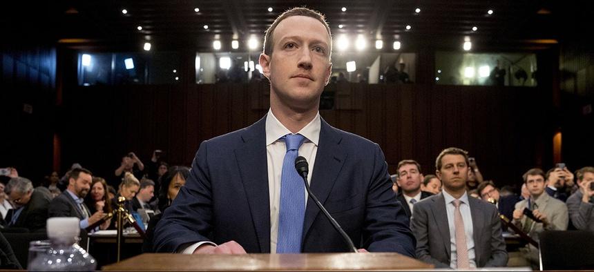 Facebook CEO Mark Zuckerberg arrives to testify before Congress