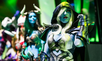 """Dota 2"" cosplayers at a Moscow event in 2016."