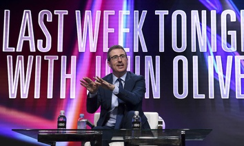 "John Oliver speaks during the ""Last Week Tonight with John Oliver"" panel during the HBO Television Critics Association Summer Press Tour at The Beverly Hilton hotel on July 25 in Beverly Hills, Calif."