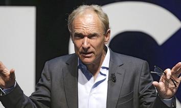 English computer scientist Tim Berners Lee