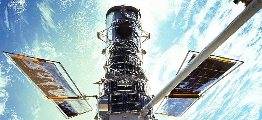 The Hubble Space Telescope in 1999.
