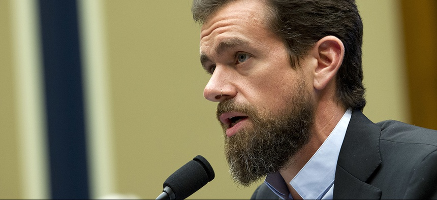 Twitter CEO Jack Dorsey testifies before the House Energy and Commerce Committee Wednesday, Sept. 5, 2018.
