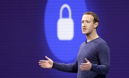 Facebook CEO Mark Zuckerberg makes the keynote speech at F8, Facebook's developer conference in San Jose, Calif.