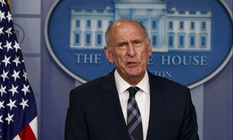 Director of National Intelligence Dan Coats speaks during the daily press briefing at the White House, Aug. 2, 2018, in Washington.