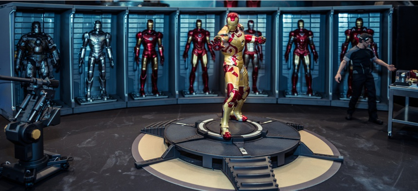 An Iron Man model room on display in Thailand Comic Con 2014 at Siam Paragon, Bangkok.