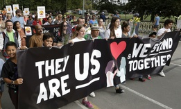"The ""March for Love"" following last week's mosque attacks in Christchurch, New Zealand, March 23."