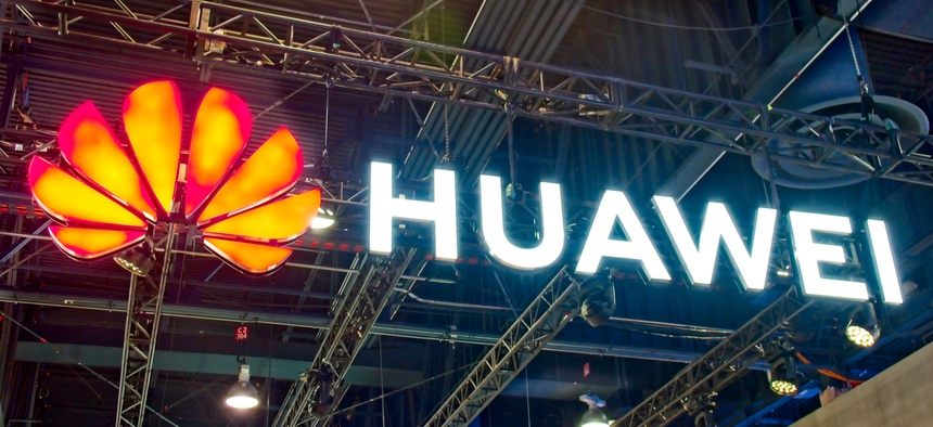Huawei promotes its 5G tech at 2019 CES exhibition.