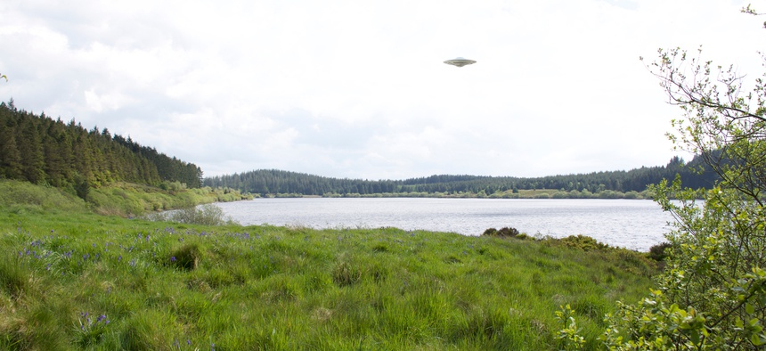 CGI image of an unidentified flying object.