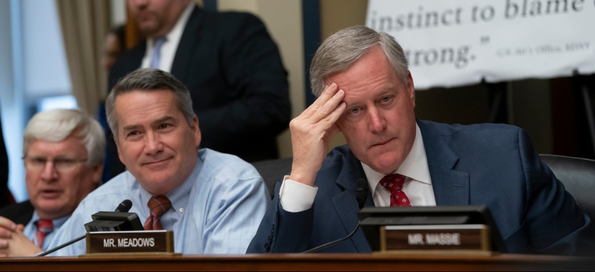 Reps. Jody Hice (left) and Mark Meadows