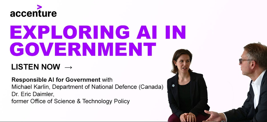 Kathleen Walch (Left), Principal AI Analyst at Cognilytica and Dominic Delmolino (Right), Chief Technology Officer at Accenture Federal Services