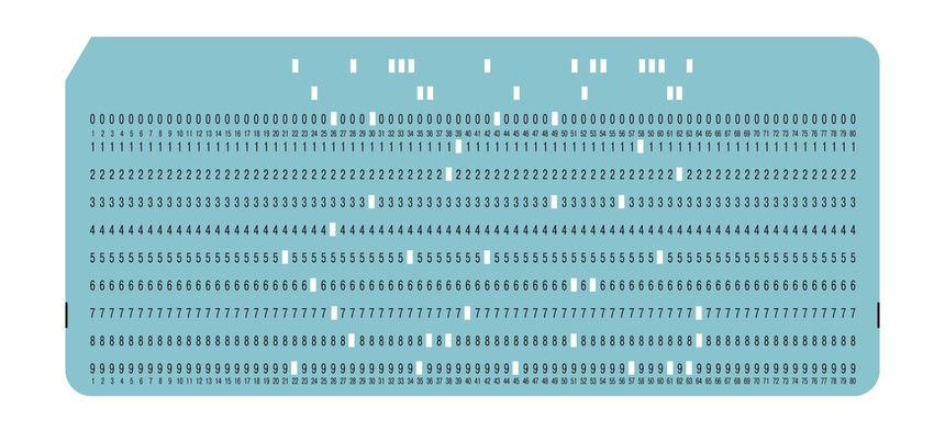 Vintage computer punch card