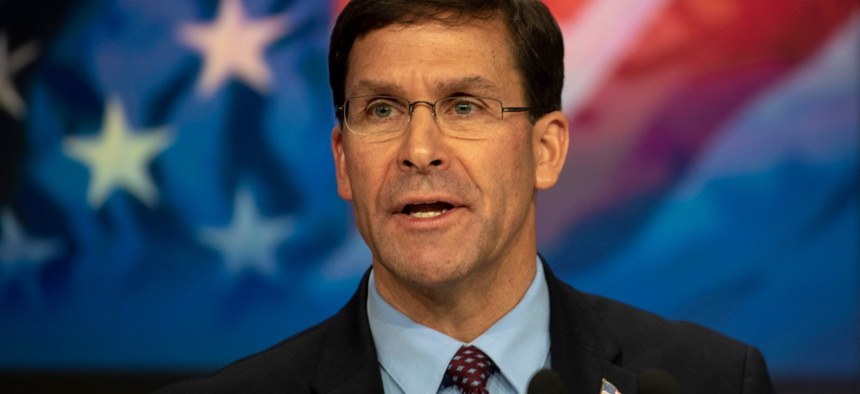 Defense Secretary Mark Esper
