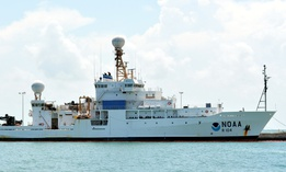 A NOAA research vessel.