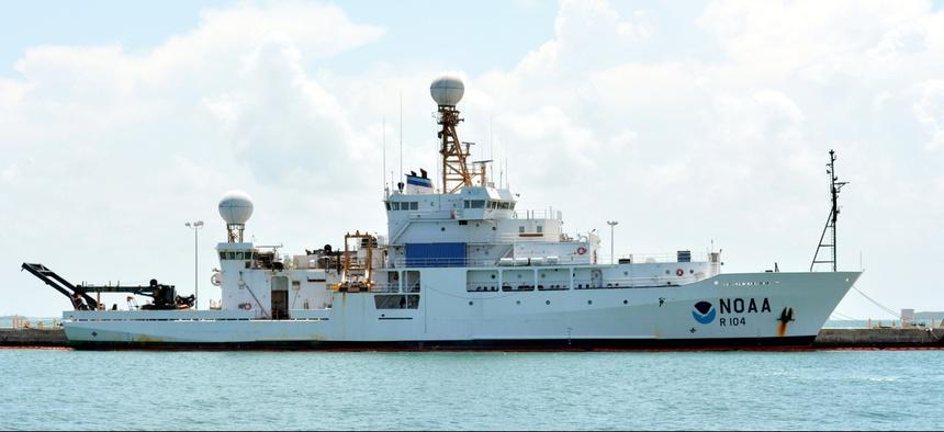 A NOAA research vessel.