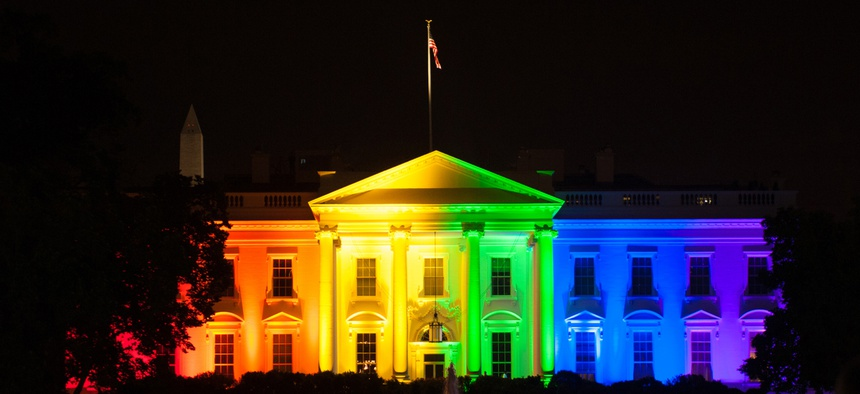 Rainbow colors lit up the White House in 2015 after the Supreme Court legalized gay marriage in all 50 states in 2015.
