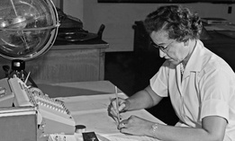 NASA mathematician Katherine Johnson is seen in 1962.