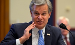 FBI Director Christopher Wray testifies before a House Committee on Homeland Security hearing September 17.