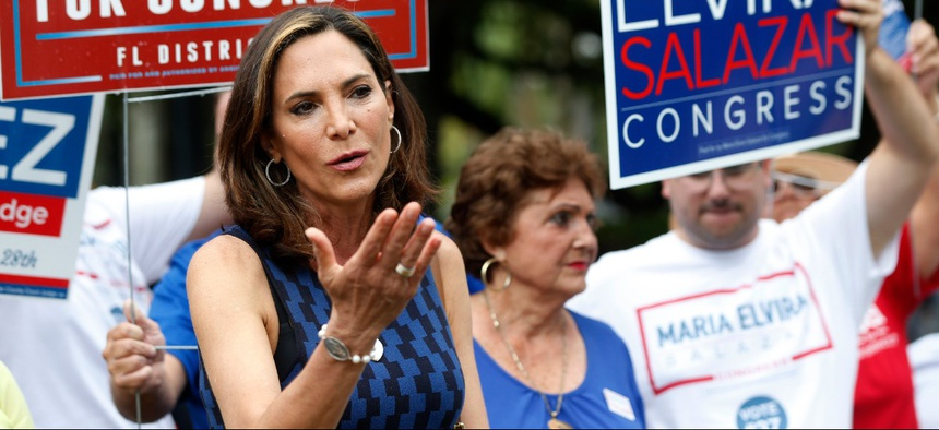 Maria Elvira Salazar beat incumbent Rep. Donna Shalala for a House seat in Florida.